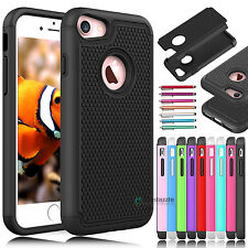 Hybrid Shockproof Hard Rubber Matte Armor Impact Case Cover for iPhone
