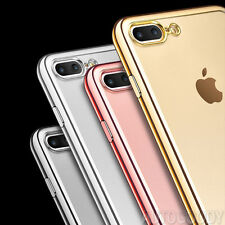 Luxury Silicone Crystal Clear Cover Case Rubber Shockproof for Apple i