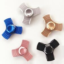 Tri Fidget Hand Spinner Metal 3-Side EDC Desk Finger Toy ADHD Autism