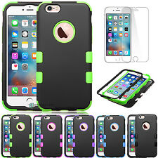 Dual Layer Hybrid Rugged Rubber Armor Protective Case Cover for iPhone