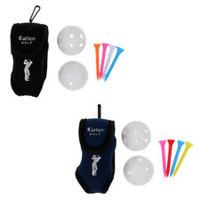 Clip-on Golf Ball Holder Belt Bags Pouch With 2 Golf Balls and 4 Tees Sets