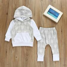Toddler Infant Newborn Baby Girl T-shirt Tops+Pants Outfits Set Clothes 0-2T