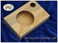 Cigar Box project guitar body. DIY make your own. Dog Bowl Resonator type.CB004