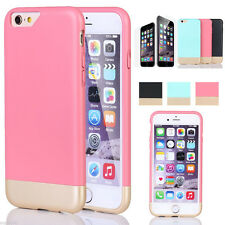 "Hybrid Rugged Rubber Hard Cover Case Skin for Apple iPhone 6 6S 4.7"" P"