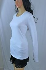 Ralph Lauren Ladies Long Sleeve Top~White~LRL Embroidered~NWT~