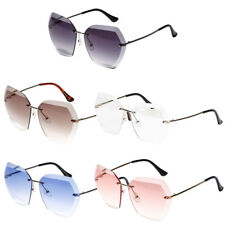 Fashion Non-Polarized Women Men Sunglasses Irregular Polygon Rimless Sunglasses