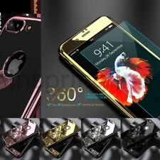 Mirror 360 Full Body Shockproof Cover Case Temper Glass For iPhone 6S