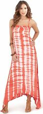 Vibrant Ladies Womens Vertical Tie Dye Print Maxi Dress