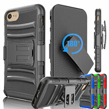 For Apple iPhone 6 6S 7 Plus Shockproof Armor Phone Case Clip Holster