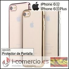 Funda Carcasa Silicona TPU Gel Borde METALIZADO para Apple Iphone 6/6S/6S+ Plus