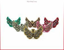 Women Elegant Crystal Rhinestone Ear Stud Butterfly Earrings Fashion Jewelry