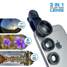 Universal 3-in-1 Fisheye+Wide Angle+Macro Camera Clip on Lens for iPho