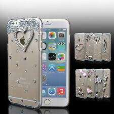 "For iPhone 7 6s 4.7""/Plus 5.5"" Bling Crystal Diamond Transparent Hard"
