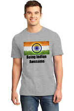 T Shirts for Men Independence day t shirts Being Indian Awesome IDT014_grey