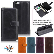 Luxury Magnetic Flip Leather Wallet Card Stand Case Cover For iPhone 6