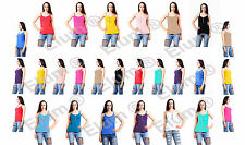 Ladies Plain Flared Swing Vest Strappy Womens Top Plus Size Front Zip Cami Dress