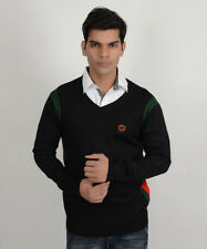 BRANDED EXPORT SURPLUS COTTON SWEATER V-NECK FULL SLEEVES BLACK FOR MEN