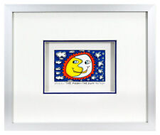 James Rizzi THE MOON AND THE SUN. Orig. 3D Collage drucksigniert