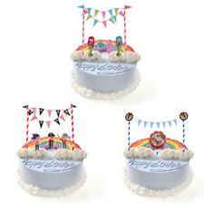 Happy Birthday Cake Topper Banners Wedding Engagement Baby Shower Cupcake Decor