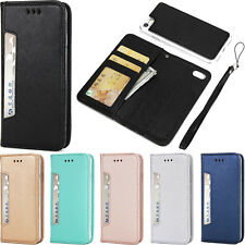 Luxury Stand Removable Slim Wallet Flip Case Cover W/Strap Fr iPhone 5