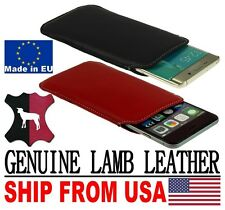 # POCKET CASE COVER HANDMADE OF NICE GENUINE LAMB LEATHER POUCH FOR AP