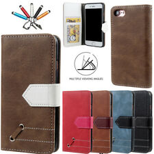 Retro Luxury Flip Leather Stand Card Slot Wallet Case Cover For iPhone