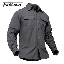 TACVASEN Mens Shirt Removeable Sleeves Lightweight Moisture-Wicking Quick dry