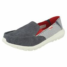 DONNA HEY DUDE AVA Marine Righe Casual, Slip-on Scarpe con tacchi in tela