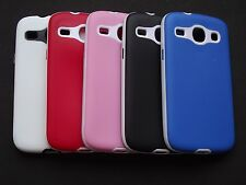 Hybrid Dual Tone Platina Soft Back Cover For Samsung Galaxy Core GT-I8262