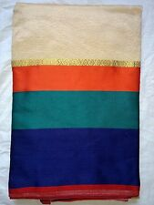 Multicolour bollywood Designer Tradtional Silk Saree With One Side Earings Combo