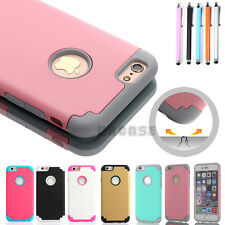 Silicone Shockproof Bumper Matte Rubber Hard Case for Apple iPhone 6 6