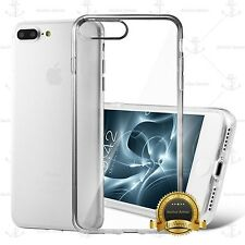 FOR APPLE IPHONE 7 6 5 CRYSTAL CLEAR CASE HARD TRANSPARENT TPU CASE SL