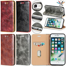 Retro Luxury Flip Leather Card Slot Wallet Stand Case Cover For iPhone