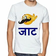 Men Printed Cotton tshirt /t shirt - Jaat Swag T Shirts Smiley Jaat JS03