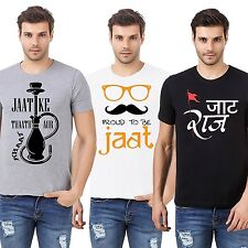 Men Printed Cotton tshirt /t shirt - Jaat Swag T Shirts Jaat Combo
