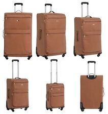 Lightweight 4 Wheel Suitcase Travel Bag Hand Luggage Cabin Leather Trolley Case