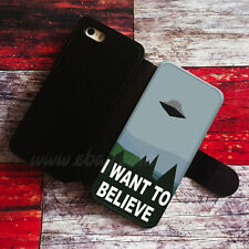 I Want To Believe Wallet iPhone cases UFO Aliens Samsung Wallet Phone
