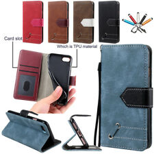 Magnetic Leather Wallet Slot Card Case Stand Strap Cover For iPhone 5