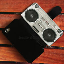 retro radio Wallet iPhone cases cassette recorder Samsung Wallet Phone