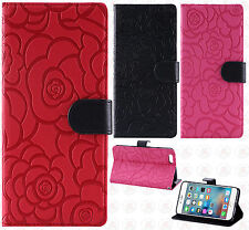 Apple iPhone 6 Plus 5.5 ROSE Leather Wallet Case Pouch Flip Cover +Scr