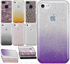 For Apple iPhone 7 & 7 PLUS SHINE HYBRID HARD Case Rubber Phone Cover