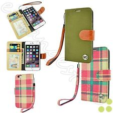 Luxury Case Cover Leather Strap Flip Wallet Stand For Apple iPhone 6 /