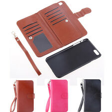 NEW Flip PU Leather Card Slot Strap Wallet Case Cover For Apple iPhone