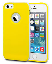 Veckko® Shock Absorb Rugged Rubber Defend Bumper Case Cover For iPhon