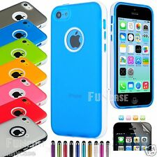 Clear Rugged Candy Shell Soft Rubber Protector Case Cover For iPhone 5