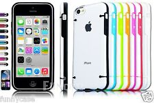Clear Glowing Rugged Rubber Matte PC Hard Case Cover For iPhone 5C + F