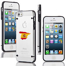 For iPhone SE 5 5s 5c 6 6s 7 Plus Slim Clear TPU Hard Case Cover Spain