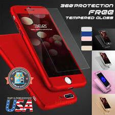 iPhone 6 6s Plus 360 Hybrid Full body case and Tempered Glass Screen P