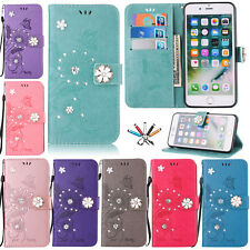 Luxury Patterned Leather Wallet Card Slots Stand Case Cover For iPhone