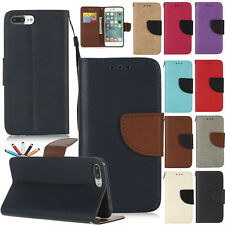 Magnetic PU Leather Case Flip Stand Card Wallet Strap Cover For iPhone